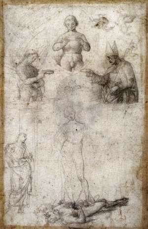 Raphael - Study for the Coronation of St Nicholas of Tolentino