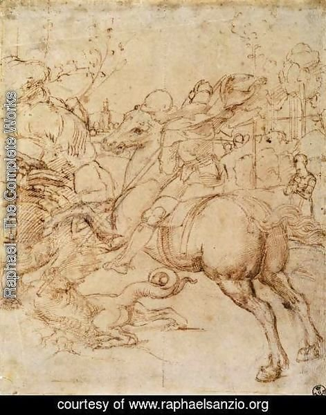 Raphael - Cartoon for St George and the Dragon