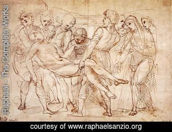 Raphael - Study for the Entombment