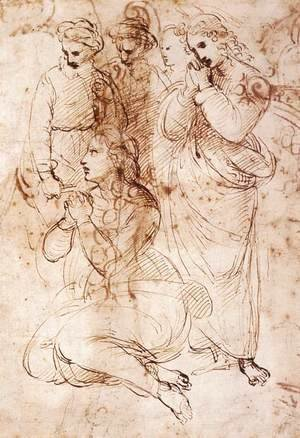 Raphael - Study of Mourning Figures