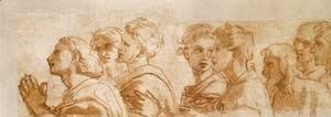 Raphael - Study of the Apostles for Handing-over the Keys (fragment)