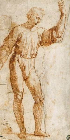 Raphael - Study of Christ for Handing-over the Keys (fragment)