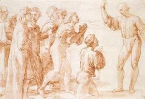 Raphael - Compositional Study for Handing-over the Keys