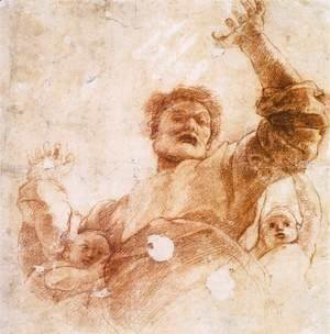 Raphael - Study of God the Father (recto)