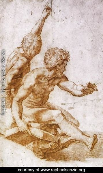 Raphael - Figure Study of Two Apostles