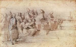 Raphael - Study for the Disputa 2