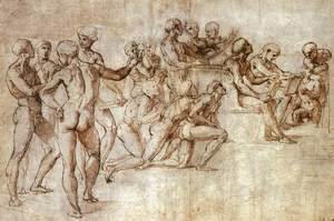 Raphael - Nude Garzone Study for the Disputa