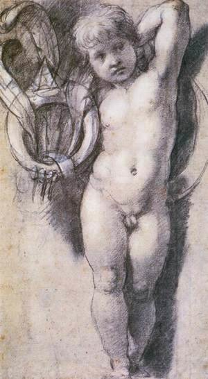 Raphael - Putto with Medici Symbols