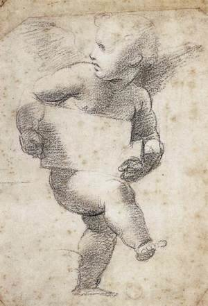 Raphael - Winged Putto with Cartello