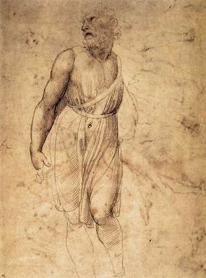 Raphael - Study after Michelangelo's St Matthew