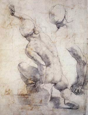 Raphael - Study of a Seated Figure for a Resurrection