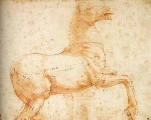 Raphael - Study of a Sculpture of a Horse