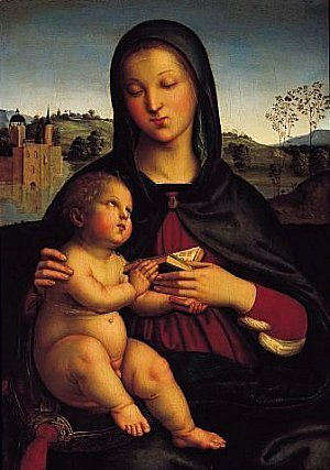 Raphael - Madonna and Child with Book