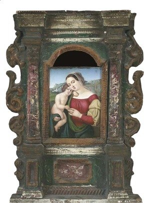 Raphael - The Madonna and Child in a landscape