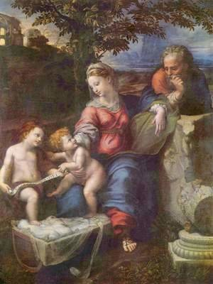 Raphael - Holy Family under the oak, with John the Baptist