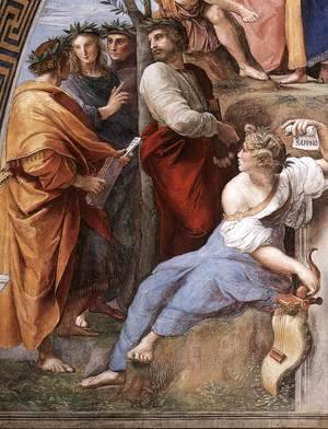 Raphael - The Parnassus, from the Stanza delle Segnatura (detail)