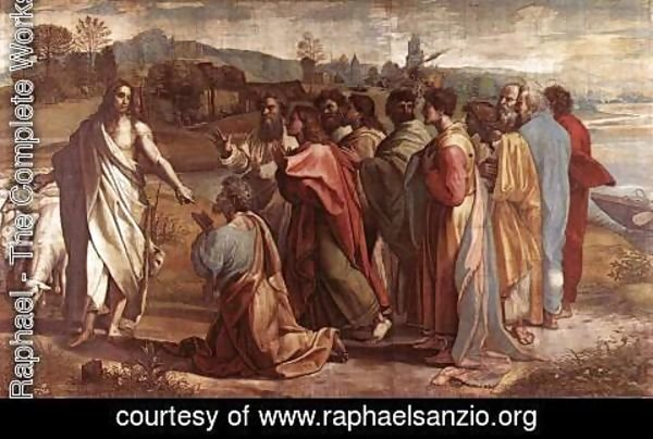 Raphael - Christ's Charge to St. Peter (cartoon for the Sistine Chapel)