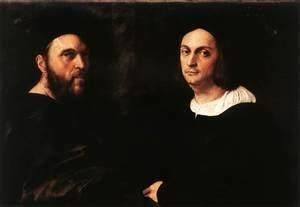Raphael - Portrait of Andrea Navagero and Agostino Beazzano