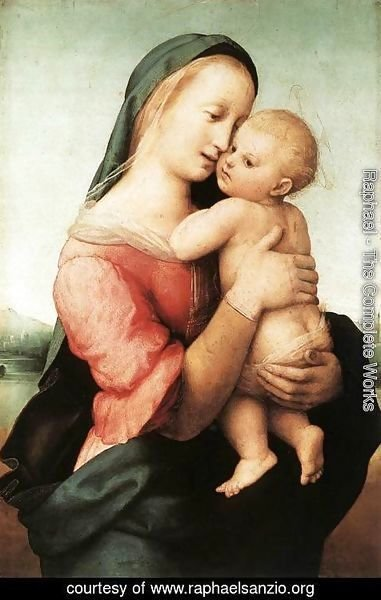 Raphael - Detail of the 'Tempi' Madonna