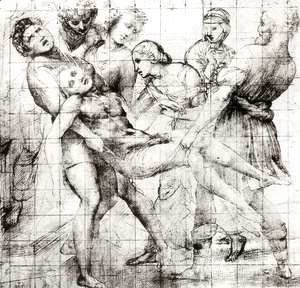 Raphael - Study for the 'Entombment' in the Galleria Borghese, Rome