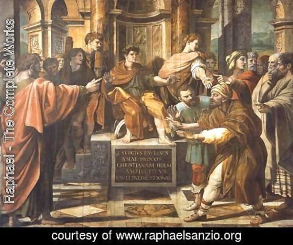 Raphael - The Blinding of Elymas (cartoon for the Sistine Chapel)