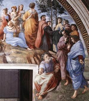 Raphael - The Parnassus, from the Stanza delle Segnatura (detail) 3
