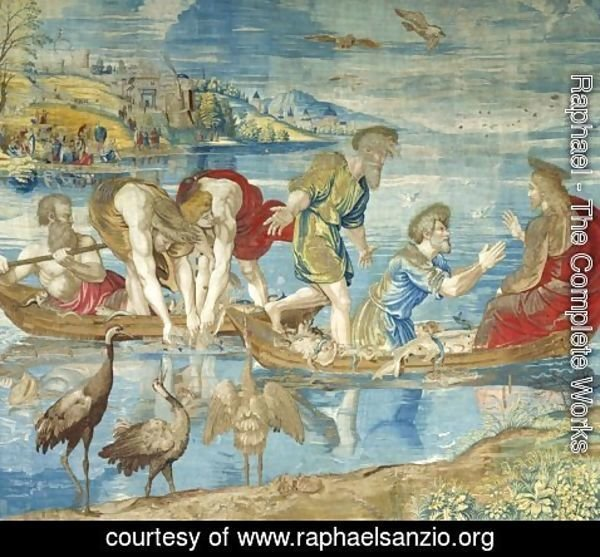 Raphael - The Miraculous Draught of Fishes (cartoon for the Sistine Chapel)