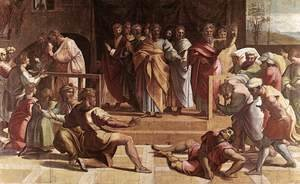 Raphael - The Death Of Ananias
