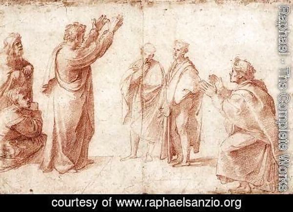 Raphael - Study For St Paul Preaching In Athens