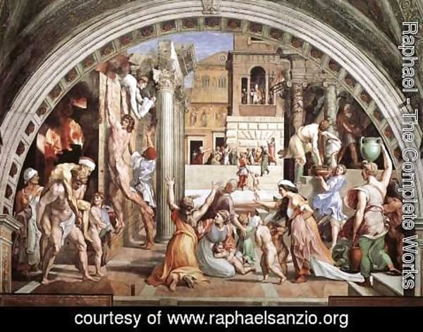 Raphael - The Fire in the Borgo (from the Stanza dell'Incendio di Borgo)