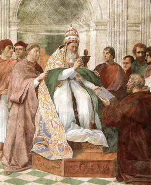 Raphael - Gregory IX Approving The Decretals