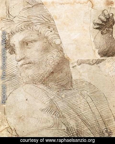 Raphael - Study For The Head Of A Poet