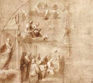 Raphael - Study For The Disputa