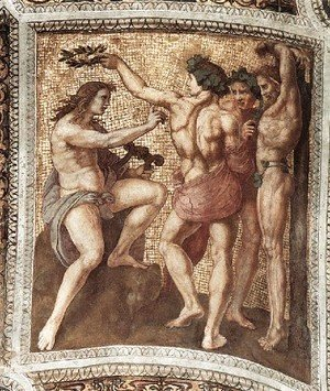 The Stanza Della Segnatura Ceiling  Apollo And Marsyas