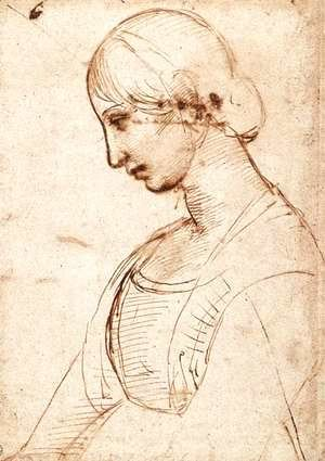 Raphael - Waist Length Figure Of A Young Woman