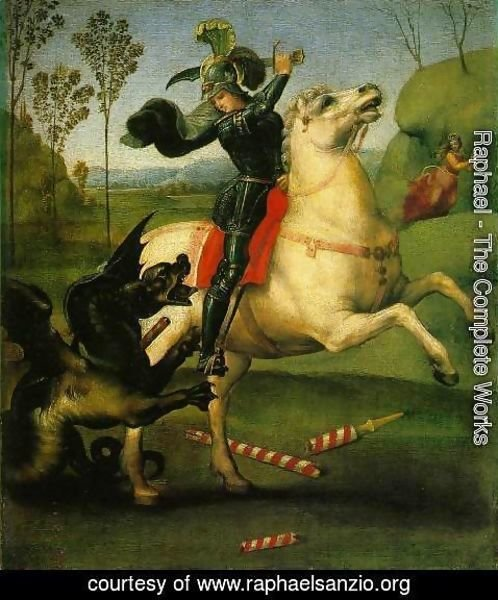 Raphael - St George Fighting The Dragon
