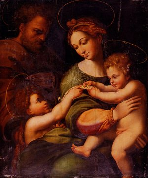 Raphael - Holy Family With Saint John The Baptist